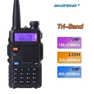 BAOFENG UV-5RIII Two Way Radio Tri Band 70cm & 1.2M & 2M FM Transceiver Intercom