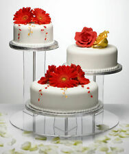 3 Position Tiered Clear Acrylic Cake Display Stand Party Wedding Mushroom Design