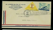 Dominican Republic 1935 Airmail San Pedro de Macoris to Ma with Scott C20, 299