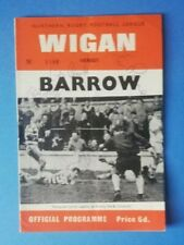 Wigan v Barrow, 29/08/1969 - Autographed (x9) League Programme.