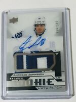 2018-19 UPPER DECK PREMIER ROOKIE AUTO PATCH /249 ANDREAS JOHNSSON AR-AJ LEAFS