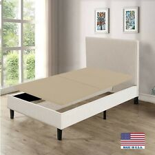 Greaton Assembled USA Fully Assembled 2-Inch Split Foundation Bunkie Twin Beige
