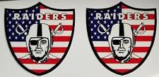 Raiders mini football helmet decals