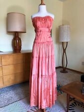 40s Dress Strapless Satin 1940s Vintage Boned Top Floor Length Evening Gown