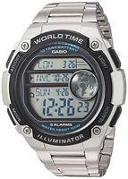 Casio Men's Digital 100m Silver Resin/Stainless Steel Watch AE3000WD-1AV