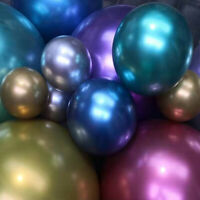 "100PCS CHROME BALLOONS METALLIC LATEX PEARL 5""-18"" Helium Baloon Birthday Party"