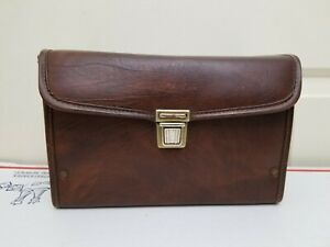 RARE Vintage Polaroid 600 One Step Leather Carrying Case Bag Brown MADE IN USA