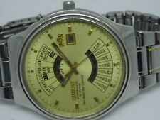 BIG ORIENT CALENDAR AUTOMATIC DAY&DATE ALL STAINLESS STEEL WORKING MAN'S WATCH