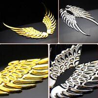 1 Pair Car Auto 3D Angel Hawk Wings Badge Emblem Alloy Metal Decal Sticker Logo
