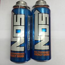 Nos Energy Drink 24oz Twist Off Cans. 2 x New Cans Lot