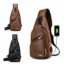 Men's Shoulder Bag Sling Chest Pack USB Charging Handbag for Nintendo Switch
