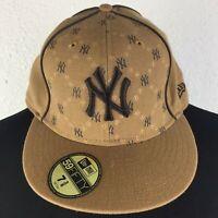 59Fifty Khaki New York Yankees Fitted Baseball Hat - Men's 7 5/8