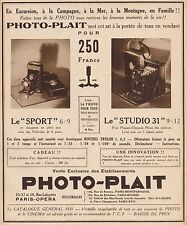 Y9240 Apparecchi fotografici PHOTO-PLAIT - Pubblicità d'epoca - 1931 Old advert