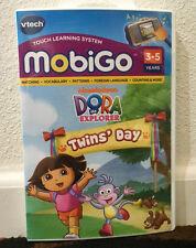 NEW Sealed VTech MobiGo Dora the Explorer Twins' Day Learning Software FREE SHIP