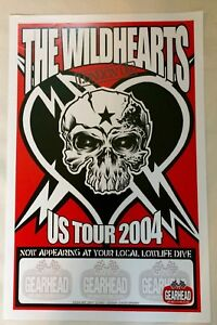 Wildhearts Riff After Riff Rare Promo Poster 2004 US Club Tour Punk Gearhead