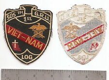 "#200 505ST G.R.U. VN 1ST LOG PATCH ""GRAVE REGISTRATION"""