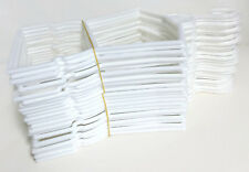 "24 White Plastic Outfit Hangers(2 Dozen) made for 18"" American Girl Doll Clothes"