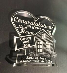 personalised House Warming Gift New Home Keepsake Ornament FREE GIFT BAG