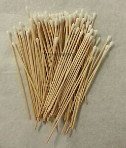 200 Pc Cotton Swab Applicator Q-tip Swabs 6in Extra Long Wood Handle Sturdy New