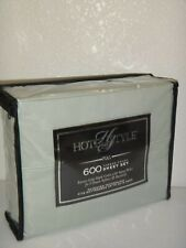 Hotel Style 600 Thread Count True Grip 4-Pc Full Sheet Set Soft Sea 100% Cotton