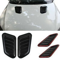 2x Universell Auto SUV Dekorativ Luftstrom Lufteinlass Motorhaube Vent Abdeckung