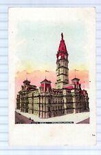 CITY HALL PHILADELPHIA - GLITTER - UNUSED - UNDIVIDED BACK