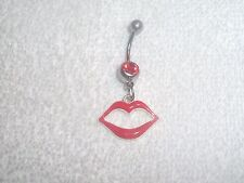 Red Hot Lips Belly Button Navel Ring Body Jewelry Piercing 14g Sale