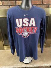 New listing Vintage Usa Hockey Nike Team T-shirt Long Sleeve T Shirt Mens Size Medium Vtg