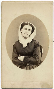 CDV Modena Actress or opera singer unidentified Veiled 1860c A. Galassi S806