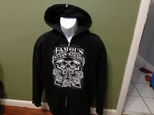 VINTAGE Famous stars and straps hoodie SKULL ROSES SIZE MENS LARGE