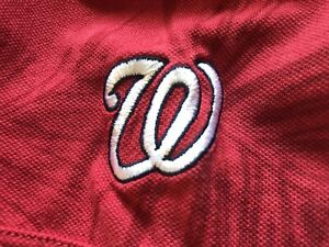 MLB Washington Nationals Red Tommy Bahama Polo Shirt, Men's Medium (M) 🏈 🏈