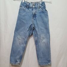 Blue Jeans Denim Toddler Size 4T 4 Boys Old Navy Stains Walked on Cuff Damaged