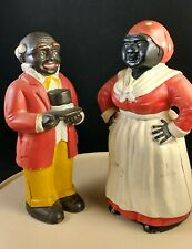 Antique Cast Iron Aunt Jemimah Uncle Mose Still Bank Doorstop