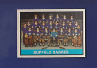 Buffalo Sabres Team Checklist (Unmarked) 1974-75 O-PEE-CHEE OPC Hockey #337(EX+)