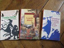 LOT de 3 livres à partir de 9 ans - 2 Amandine malabul et La petite planète