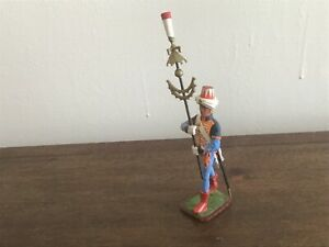 Napoleonic Mameluke with standard, Old Guard. St Petersburg made. 54-60mm metal
