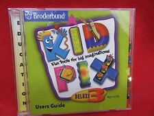 KID PIX DELUXE 3 by Broderbund  CD Ages 4-UP - FREE SHIPPING