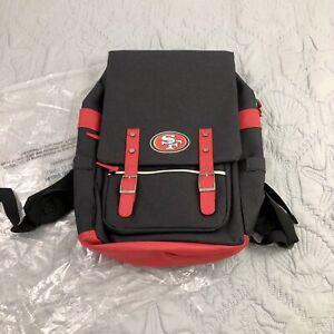 San Francisco 49ers: NFL Black Red Laptop Backpack - Brand New