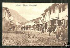 Skutari Shkoder Pazari People Shops Shqypënië Albania 1910