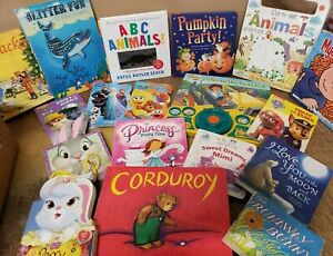 Lot of 20 Children BOARD Hardcover BABY TODDLER DAYCARE Kids BOOKS *RANDOM MIX*