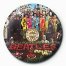 BEATLES sgt peppers - BUTTON BADGE official merchandise - lennon & mccartney