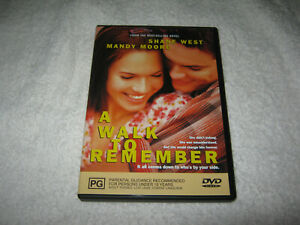 A Walk To Remember - Mandy Moore - VGC - DVD - R4