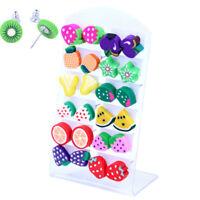 12Pair Handmade Polymer Clay Cute Earrings Ear Studs Earrings Kids Jewelry UL