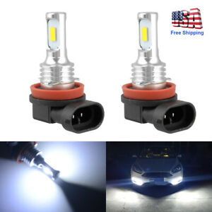 2PCS H11 LED Headlight Super Bright Bulb Kit HIGH/LOW Beam 6000K White Fog Light