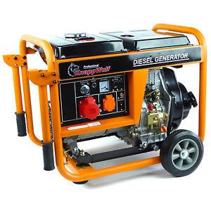 KnappWulf Diesel Stromerzeuger KW5500-3 Generator Notstromaggregat 3-Phase 400V