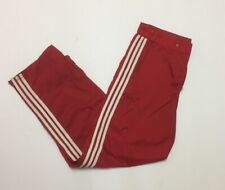 Vintage B-boy Breakdance Adidas Nylon Pants Hip Hop 90 Red Sidezippers Mens L