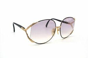 Christian Dior Vintage 63 □ 17 Sunglasses Eyewear Big Frame Metal Black 4955k