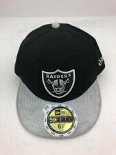 0bfa162ae96 NEW Oakland Raiders NFL New Era 59FIFTY Fitted 6 3 4 Youth Kids Cap Hat