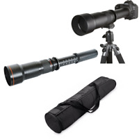 JINTU 650-1300mm Supper Telephoto Lens +Carry case for  Canon Nikon SLR Camera