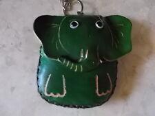 Mignon Porte-monnaie en cuir sac à main en Cuir Portefeuille Porte-clés éléphant